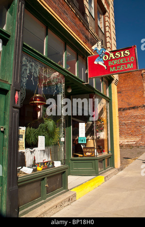 Oasis Bordello Museum, Historic Wallace, Idaho (Dante's Peak movie set), USA - Stock Photo