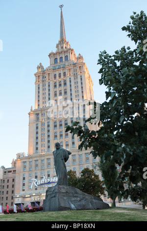 Building of Radisson Royal Hotel, former Hotel Ukraina, Moscow, Russia