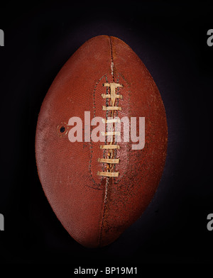 Vintage old leather American football - Stock Photo
