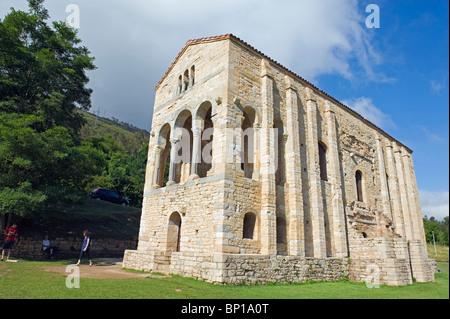 Spain Oviedo, Santa Maria de Naranco, 9th century pre-romanesque style, Unesco World Heritage Site - Stock Photo