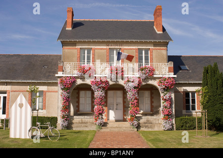 France, Pays de la Loire, Loire-Atlantique, La Bernerie en Retz, town hall - Stock Photo