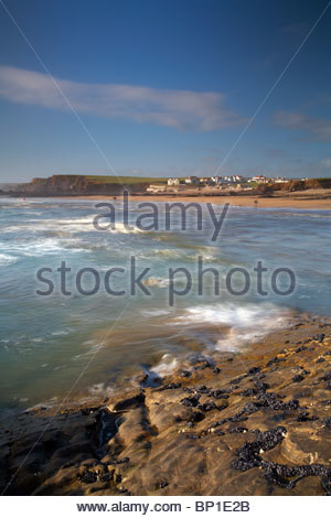 Coastline at Bude, North Cornwall, England, UK - Stock Photo