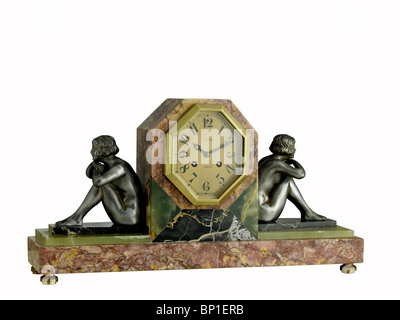 French Art Deco clock - Stock Photo