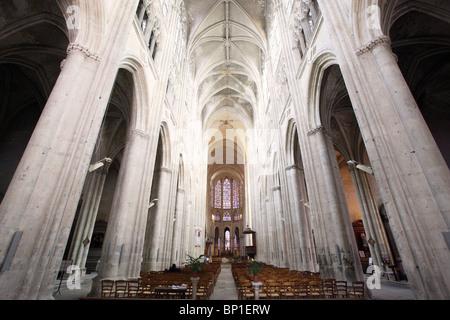 France, Centre, Indre et Loire, Tours, St Gatien cathedral - Stock Photo