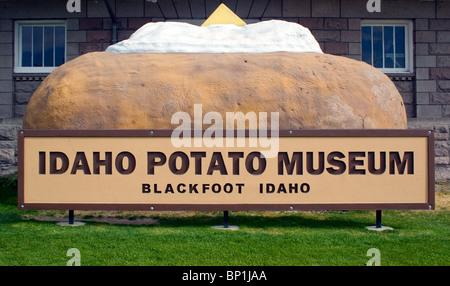 Idaho Potato Museum in Blackfoot - Stock Photo