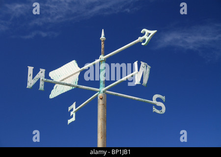A white weather vane at Cape Leeuwin - Stock Photo