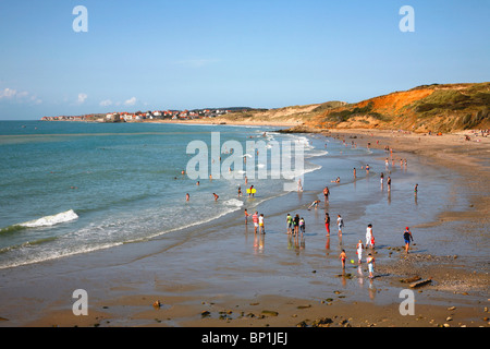 France, Nord-Pas-de-Calais, Pas-de-Calais (62) , Cote d'Opale, Ambleteuse and Dune de la Slack - Stock Photo
