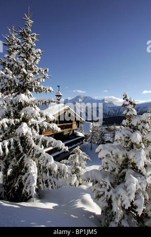 France, Alps, Savoie, Courchevel 1850 - Stock Photo