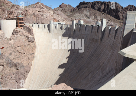 Historic Hoover dam in southern Nevada USA. - Stock Photo