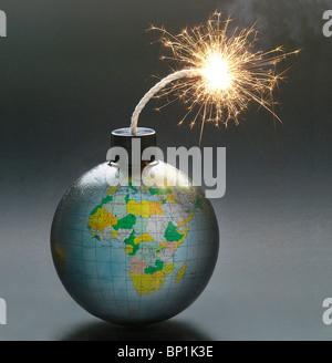 Globe bomb - Stock Photo