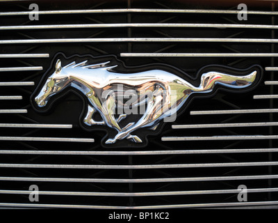 Ford Mustang sign - Stock Photo