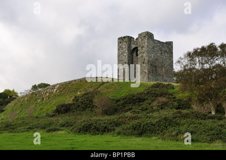 Audley's Castle at Castleward in Northern Ireland - Stock Photo
