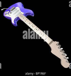 electric guitar isolated on a black background - Stock Photo