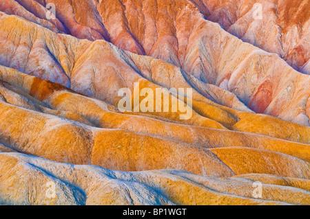 Eroded hills below Zabriskie Point, Death Valley National Park. California - Stock Photo