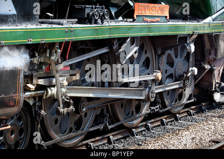 'Eddystone' steam locomotive working on the Swanage Railway. England. - Stock Photo