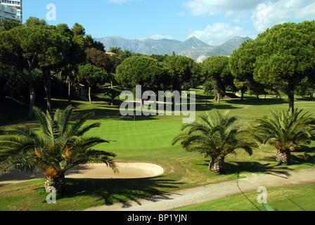 Rio Real Golf Club, Marbella, Costa del Sol, Malaga Province, Andalucia, Spain, Western Europe. - Stock Photo