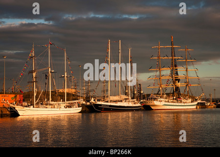 Tall Ships berthed at Victoria Dock, Hartlepool as part of the 2010 Tall Ships Race, Tees Valley - Stock Photo