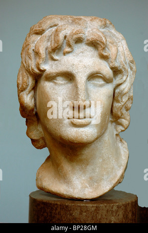 2175. MARBLE BUST OF ALEXANDER THE GREAT - Stock Photo