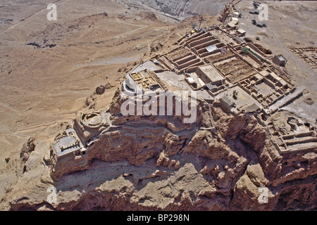 2796. MASSADA - THE STORE ROOMS COMPLEX AND HERODS' PALACE (ON THE LEFT) - Stock Photo