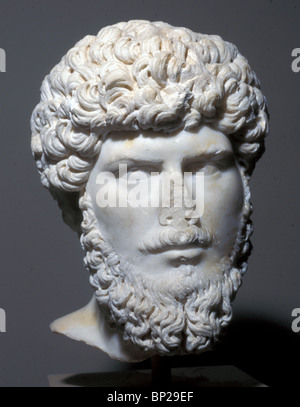 2998. MARBLE BUST OF EMPEROR LUCIUS VERUS, 161 - 169 AD - Stock Photo