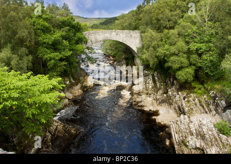 Vibrant landscape of Glen Oykel in the assynt region of Sutherland in the Scottish Highlands. - Stock Photo