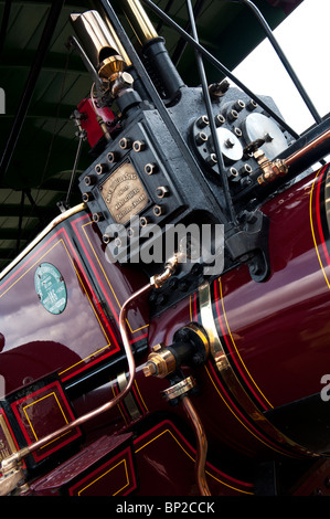 Showmans Traction Engine at a steam fair in England. Abstract - Stock Photo