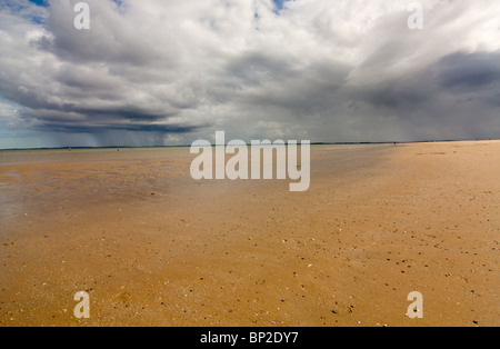 Dornoch Sands on the shore of the Dornoch Firth a short walk from the town centre of Dornoch in the Scottish Highlands. - Stock Photo