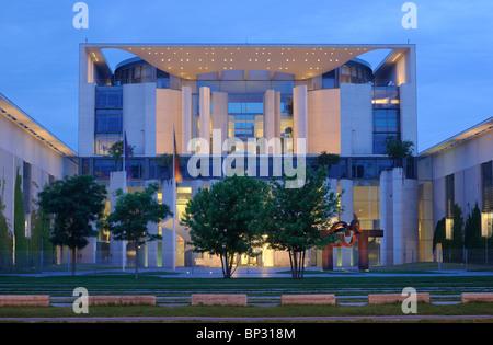 Bundeskanzleramt, Federal Chancellery building, Government District, Tiergarten quarter, Berlin, Germany, Europe - Stock Photo