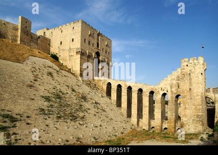Citadel in Aleppo, Syria - Stock Photo