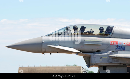 RAF CONINGSBY 19 JULY UK: Royal Air Force Eurofighter Typhoon F2 at RAF Coningsby UK 19 JULY 2010 - Stock Photo