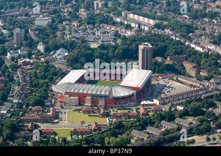 Aerial view of Charlton Athletic Football Club, London - Stock Photo