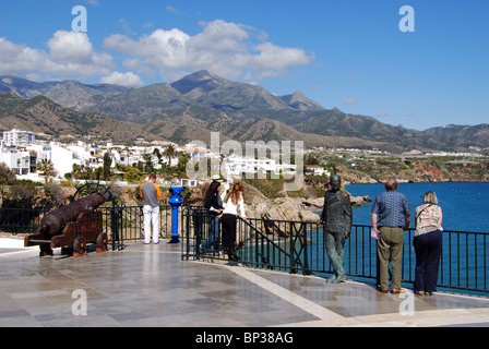 view from balcon de europa of nerja andalusia spain europe stock photo royalty free image. Black Bedroom Furniture Sets. Home Design Ideas