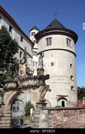 Gateway to the Hartenfels castle, or Schloss Hartenfels, Torgau, Germany - Stock Photo