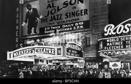 WARNER-KINO THEATRE NEW YORK THE JAZZ SINGER (1927) - Stock Photo