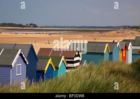 Beach huts at Wells next the sea, Norfolk, England - Stock Photo
