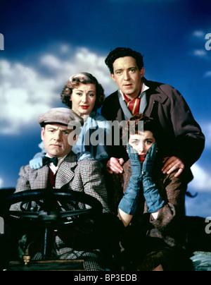 JOHN GREGSON, DINAH SHERIDAN, KENNETH MORE, KAY KENDALL, GENEVIEVE, 1953 - Stock Photo