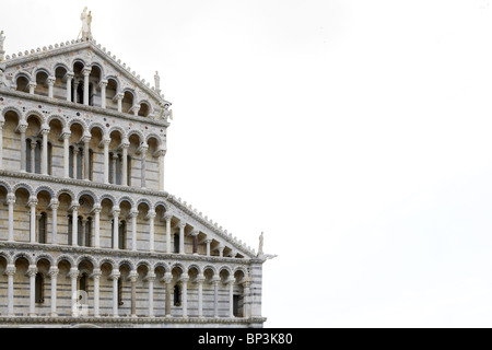 Detail of the colonnades at Cathedral Santa Maria Assunta (Duomo) in Pisa, Italy - Stock Photo