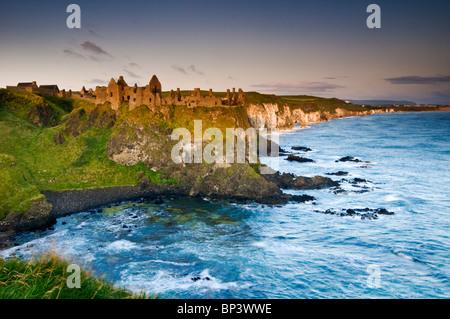 Dunluce Castle, Near Portrush, Antrim Coast, County Antrim, Northern Ireland, UK - Stock Photo