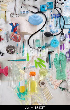 collection of medical objects - Stock Photo