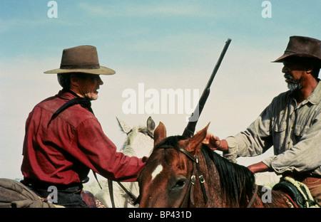 CLINT EASTWOOD MORGAN FREEMAN UNFORGIVEN (1992) - Stock Photo