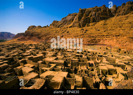 Saudi Arabia, Al-Ula, view of the old town, now abandoned - Stock Photo