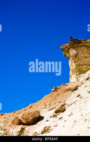 Western Sahara, coastline, Atlantic Ocean. - Stock Photo