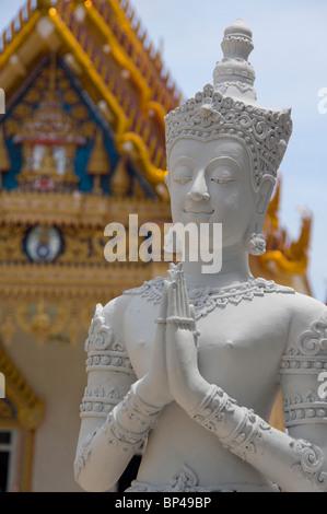 Southeast Thailand, Ko Samui (aka Koh Samui). Khunaram Temple. - Stock Photo