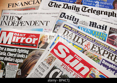 UK Newspapers - Stock Photo
