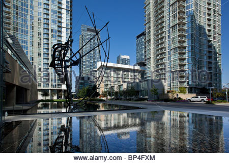 Urban renewal New condominiums built on a decommissioned rail yard at CityPlace near downtown in Toronto Ontario - Stock Photo