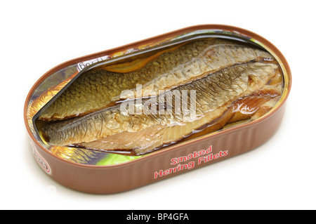Herring - Smoked Fillets - Stock Photo