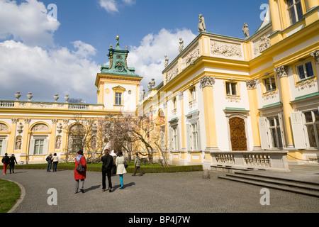Wilanow Palace, Warsaw Poland. - Stock Photo