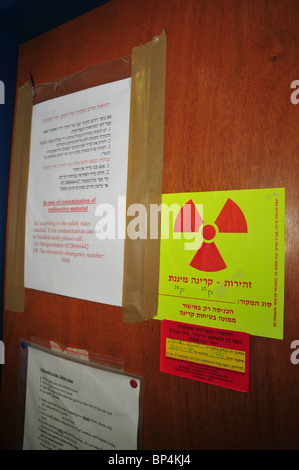 Research Laboratory radiation warning sign - Stock Photo