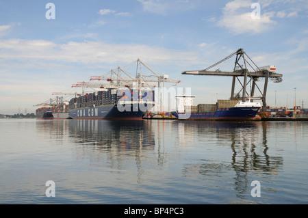 DP World ABP Southampton marine container terminal southern England UK - Stock Photo