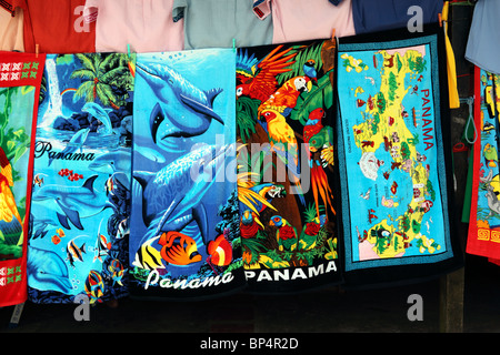 colourful beach towels for sale on market stall portobelo panama stock photo - Beach Towels On Sale